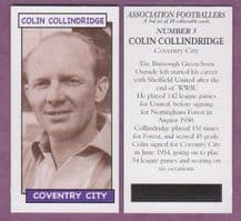 Coventry City Colin Collindridge 5 (AF3)