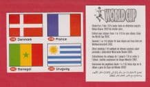 Denmark France Senegal Uruguay Flags 20