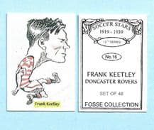 Doncaster Rovers Frank Keetley 16 (FC)