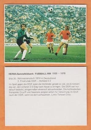 East Germany v Holland 1974 World Cup (20) Cruyff Neeskens