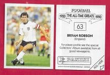 England Bryan Robson Manchester United 63