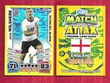 England Jack Wilshire Arsenal 249 Man of the Match (14AS)