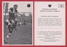 """Germany """"B"""" v Bolton Wanderers Tommy Banks England D87"""