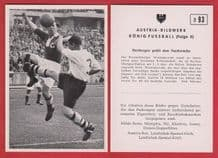 """Germany """"B"""" v Bolton Wanderers Tommy Banks England D93"""