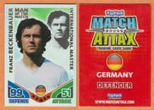 Germany Franz Beckenbauer Bayern Munich Man of the Match International Master