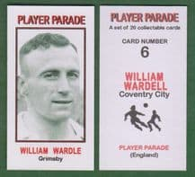 Grimsby Town William Wardle 6 ** Printing Error ** (PPS1)