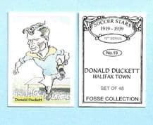Halifax Town Donald Duckett 19 (FC)