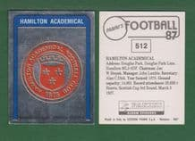 Hamilton Academicals Badge 512