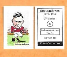 Hearts of Midlothian Andrew Anderson 20 (FC)