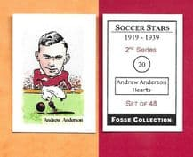 Hearts of Midlothian Andrew Anderson 20 (FC) (R)