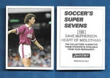 Hearts of Midlothian Dave McPherson 198
