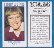 Hearts of Midlothian Don Murray