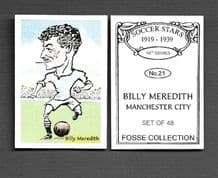 Manchester City Billy Meredith Wales 21 (FC)