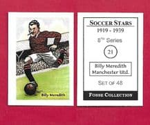 Manchester United Billy Meredith Wales 21 (FC)
