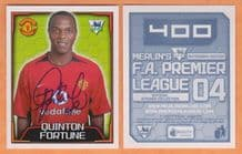 Manchester United Quinton Fortune South Africa 400