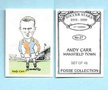 Mansfield Town Andy Carr 27 (FC)