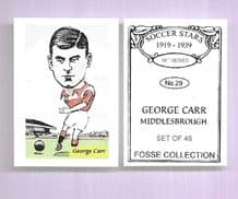 Middlesbrough George Carr 29 (FC)