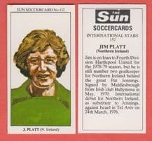 Northern Ireland Jim Platt Middlesbrough