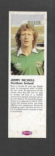 Northern Ireland Jimmy Nicholl (LTE)