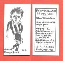 Notts County Albert Broadbent 108