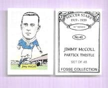 Partick Thistle Jimmy McColl 40 (FC16)