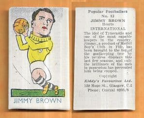 Scotland Jimmy Brown Hearts of Midlothian 12