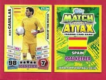 Spain Iker Casillas Real Madrid 2263 Man of the Match (14AS)