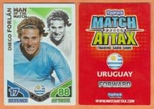 Uruguay Diego Forlan Atletico Madrid Man of the Match 276