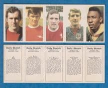 West Germany Beckenbauer England Simpson Thompson Stepney Brazil Pele