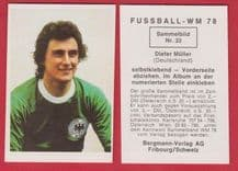 West Germany Dieter Muller Koln