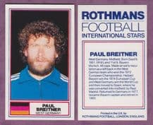 West Germany Paul Breitner Bayern Munich