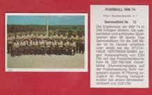 West Germany Squad Beckenbauer 12