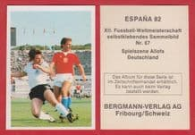 West Germany Thomas Allofs Fortuna Dusseldorf 67