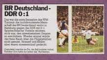 West Germany v East Germany Grabowski Croy 1974 World Cup