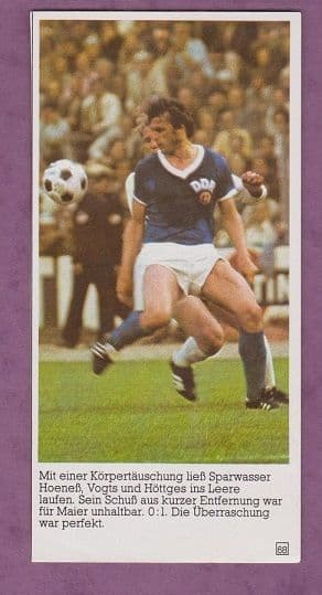 West Germany v East Germany Sparwasser 1974 World Cup