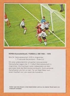 West Germany v Poland 1978 World Cup (34) Maier