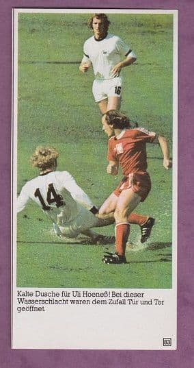 West Germany v Poland Hoeness 1974 World Cup