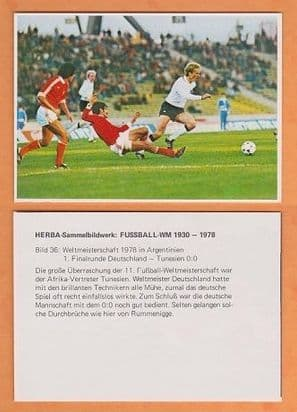 West Germany v Tunisia 1978 World Cup (36) Rummenigge