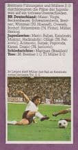 West Germany v Yugoslavia Muller 1974 World Cup