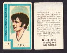 West Germany Wolfgang Overath 112