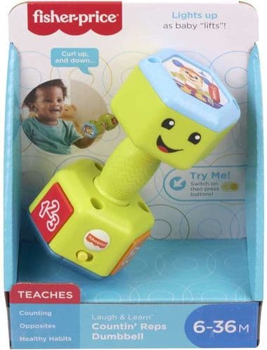 Fisher Price Laugh & Learn Countin' Reps Dumbell