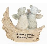 'A Sister Is Worth A Thousand Friends' Pebble Art Ornament...
