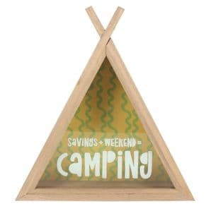 'Camping Fund' Teepee Shaped Money Box. Great Gift For Those Who Enjoy Camping ....