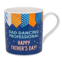 'Dad Dancing Professional. Happy Fathers Day! Fine China Mug Great Gift For Dad..WAS £5.95