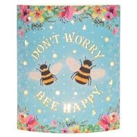 'Dont worry Bee Happy'  Battery Operated Light Up Lantern,...