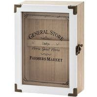 'Farmers Market Home Sweet Home Shabby Chic Large Wooden Key Cabinet....