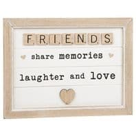 'Friends Share Memories Laughter And Love' Scrabble Sign For Friends...