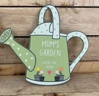 'Mums Garden Where Love Grows' Watering Can Shaped Wooden Sign Gift For Mum...
