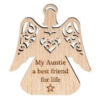 'My Auntie My Best Friend For Life' Carved Wooden Standing Sign....