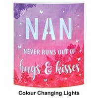 'Nan Never Runs Out Of Hugs And kisses' Light Up Lantern...